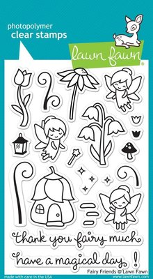 Lawn Fawn Fairy Friends Clear Stamps (LF1057)