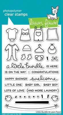 Lawn Fawn Little Bundle Clear Stamps (LF1127)