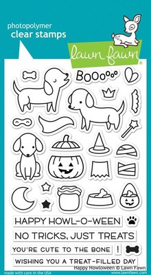 Lawn Fawn Happy Howloween Clear Stamps (LF1206)