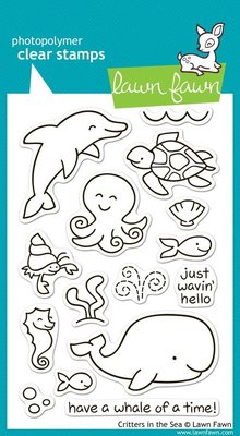 Lawn Fawn Critters In the Sea Clear Stamps (LF311)