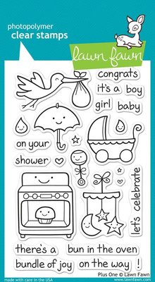 Lawn Fawn Plus One Clear Stamps (LF337)
