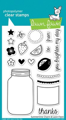 Lawn Fawn Summertime Charm Clear Stamps (LF449)