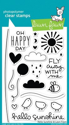 Lawn Fawn Hello Sunshine Clear Stamps (LF651)