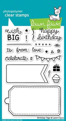 Lawn Fawn Birthday Tags Clear Stamps (LF663)