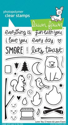 Lawn Fawn Love You S'more Clear Stamps (LF671)