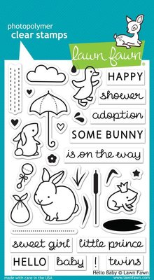 Lawn Fawn Hello Baby Clear Stamps (LF673)