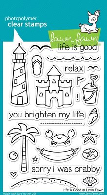 Lawn Fawn Life Is Good Clear Stamps (LF680)