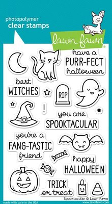 Lawn Fawn Spooktacular Clear Stamps (LF698)
