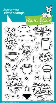 Lawn Fawn Love You A Latte Clear Stamps (LF704)