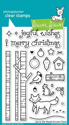Lawn Fawn Joy To The Woods Clear Stamps (LF706)