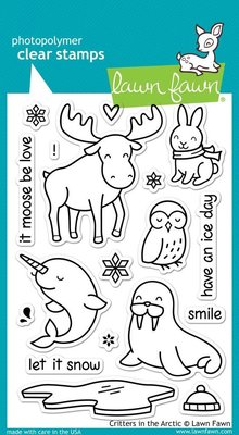 Lawn Fawn Critters In The Arctic Clear Stamps (LF708)