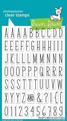 Lawn Fawn Violet's ABCs Clear Stamps (LF732)