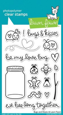 Lawn Fawn Bugs and Kisses Clear Stamps (LF789)