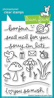Lawn Fawn Gleeful Gardens Clear Stamps (LF799)
