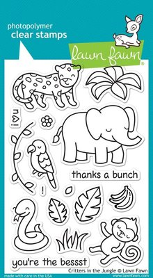 Lawn Fawn Critters In The Jungle Clear Stamps (LF803)