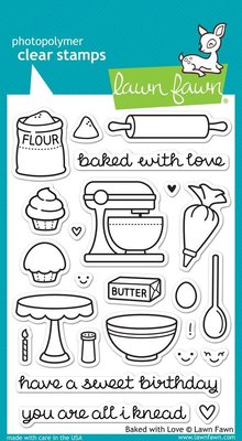 Lawn Fawn Baked With Love Clear Stamps (LF805)