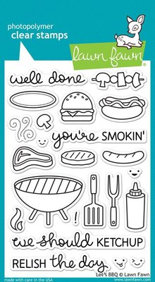 Lawn Fawn Let's BBQ Clear Stamps (LF889)