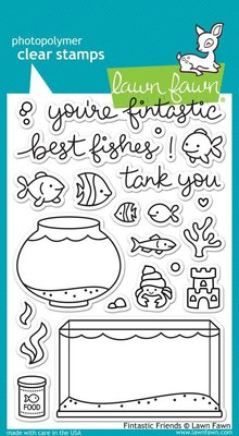 Lawn Fawn Fintastic Friends Clear Stamps (LF891)