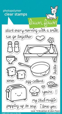 Lawn Fawn Love 'N Breakfast Clear Stamps (LF365)