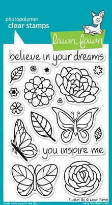 Lawn Fawn Flutter By Clear Stamps Clear Stamps (LF383)