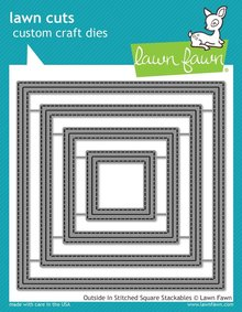 Lawn Fawn Outside In Stitched Square Stackables Dies (LF1443)