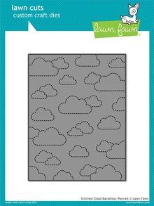 Lawn Fawn Stitched Cloud Backdrop: Portrait Dies (LF1424)