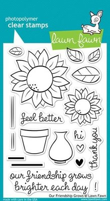 Lawn Fawn Our Friendship Grows Clear Stamps (LF556)
