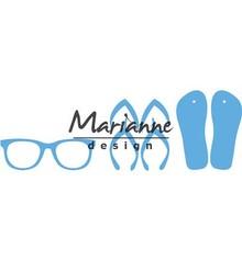 Marianne Design Creatable Flip flops & Sun Glasses (LR0477)