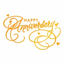 Ultimate Crafts Hot Foil Stamp Happy Anniversary (ULT158109)
