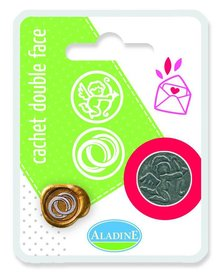 Aladine Double Metal Seal Wedding Rings - Cupid (71103)