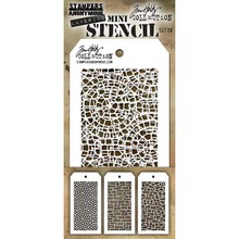 Stampers Anonimous Tim Holtz Mini Layering Stencil Set 28 (THMST028)