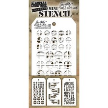 Stampers Anonimous Tim Holtz Mini Layering Stencil Set 29 (THMST029)