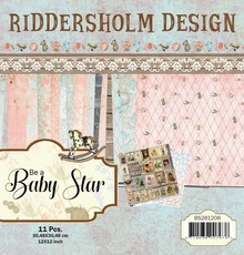 Riddersholm Design Be A Baby Star 12x12 Inch Paper Pack (BS281208)