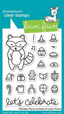 Lawn Fawn Holiday Party Animal Clear Stamps (LF934)