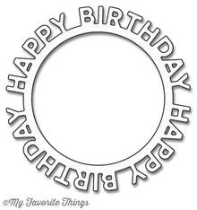 My Favorite Things Die-Namica Happy Birthday Circle Frame (MFT-1146)