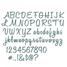 Sizzix Thinlits Alterations Alphanumeric Script Ti Tall (662228)