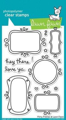 Lawn Fawn Flirty Frames Clear Stamps (LF801)