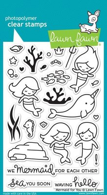 Lawn Fawn Mermaid For You Clear Stamps (LF1167)