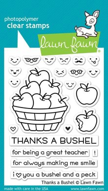 Lawn Fawn Thanks A Bushel Clear Stamps (LF1208)