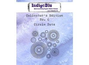 IndigoBlu Collectors Edition 6 Rubber Stamp - Circle Dots (IND0359)