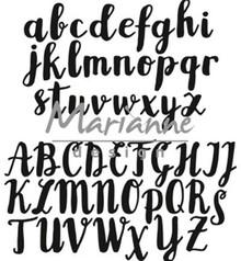 Marianne Design Craftable Brush Alphabet (CR1416)