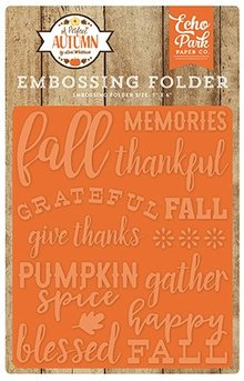 Echo Park A Perfect Autumn Happy Fall 12,7x14,9 cm Embossing Folder (APA132031)