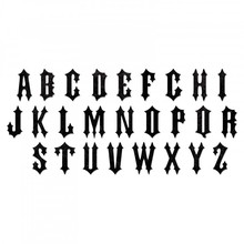 Sizzix Bigz XL Alterations Gothic Alphabet (662388)