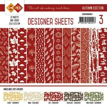 Card Deco Autumn Edition Rood 6x6 Inch Designer Sheets (CDDSRD003)