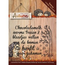 Yvonne Creations Autumn Colors Text Clear Stamp (YCCS10034)