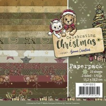 Yvonne Creations Celebrating Christmas 6x6 Inch Paper Pack (YCPP10013)