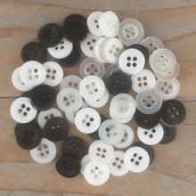Dovecraft Plastic Buttons - Monochrome