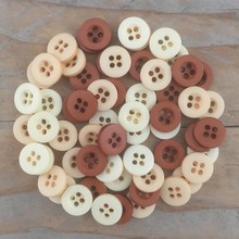 Dovecraft Plastic Buttons - Naturals