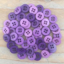 Dovecraft Plastic Buttons - Amethyst