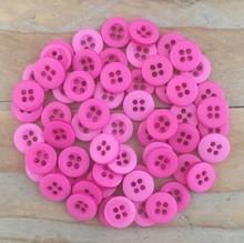Dovecraft Plastic Buttons - Fuchsia